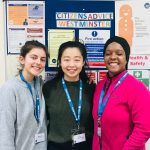 student volunteers 2018 Rebecca and Ming with Brenda Smith