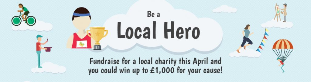be a local hero banner
